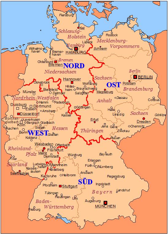 Ost West Deutschland