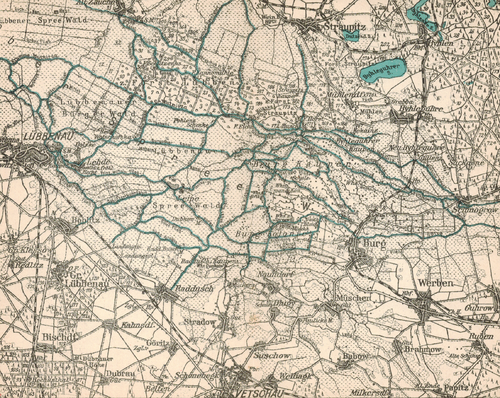 Karte Spreewald Lubbenau.Spreewald Keller 1929 Faltbootwiki