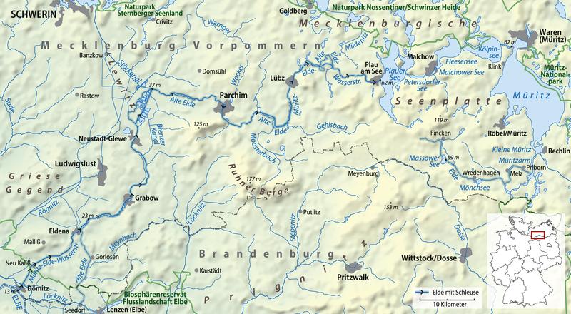 Mecklenburgische Seenplatte Karte Pdf.Muritz Elde Wasserstrasse Faltbootwiki